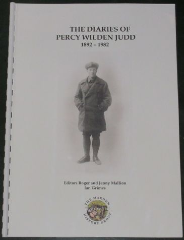 The Diaries of Percy Wilden Judd 1892-1982, edited by Roger and Jenny Mallion and Ian Grimes